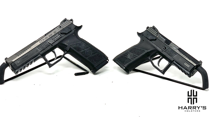 A photo of CZ P07 and CZ P09 side by side