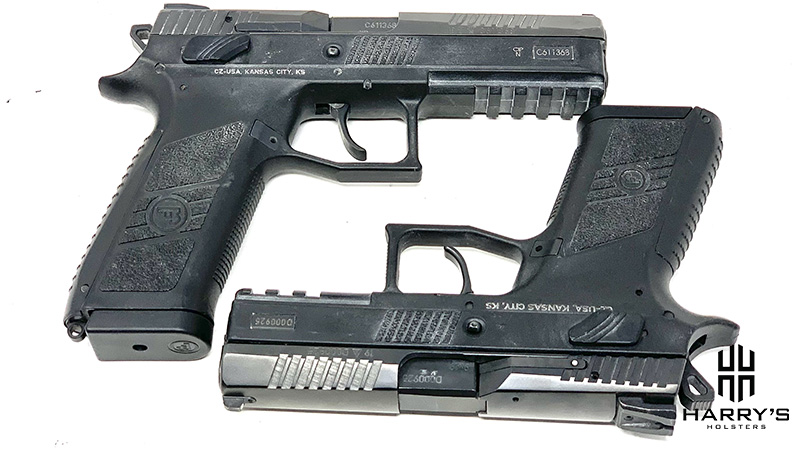 A photo of both the CZ P07 and the P09.