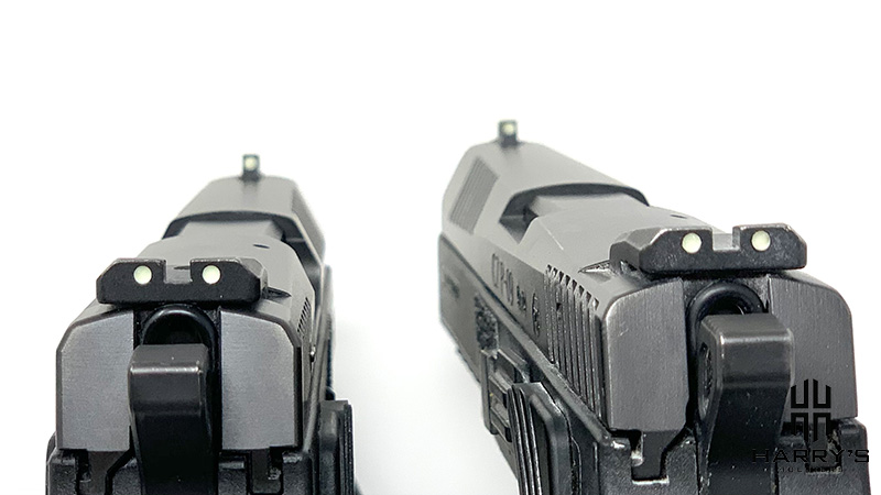 Sight comparison on the CZ P07 and the P09