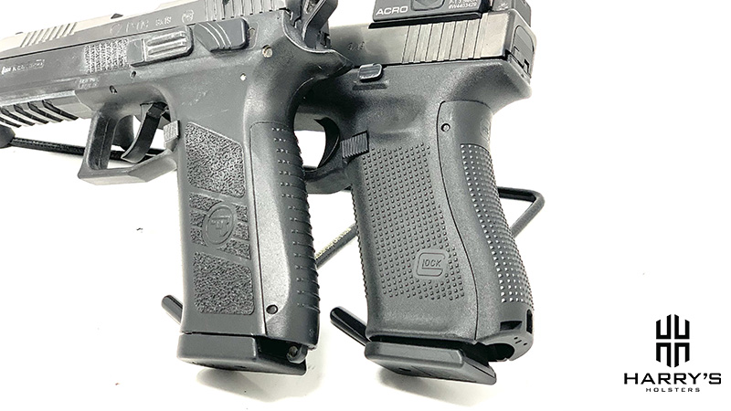 CZ P09 vs Glock 17 grips