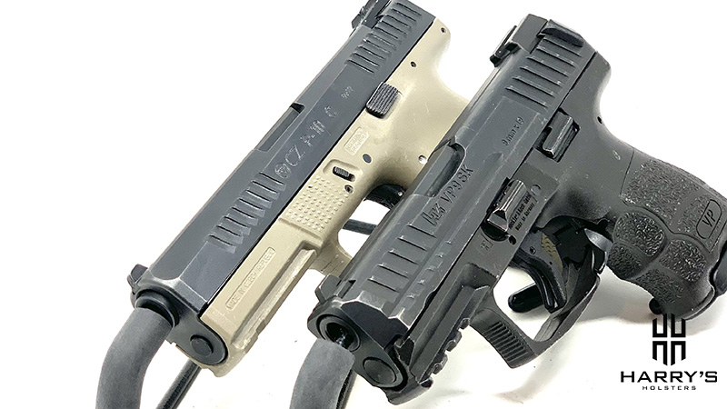 A side-by-side image of CZ P10c vs HK VP9SK