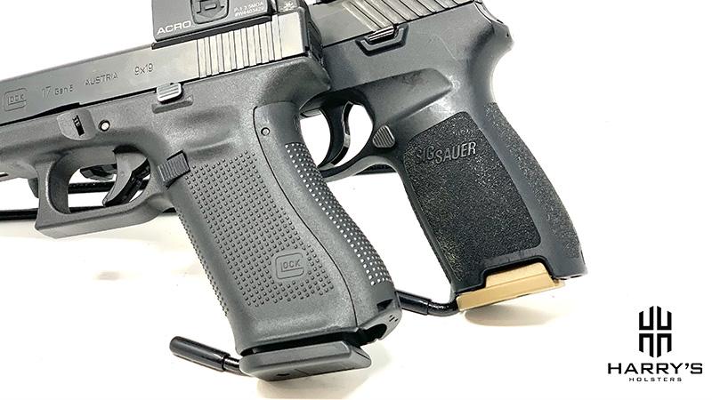 Glock 17 vs Sig P320 grips