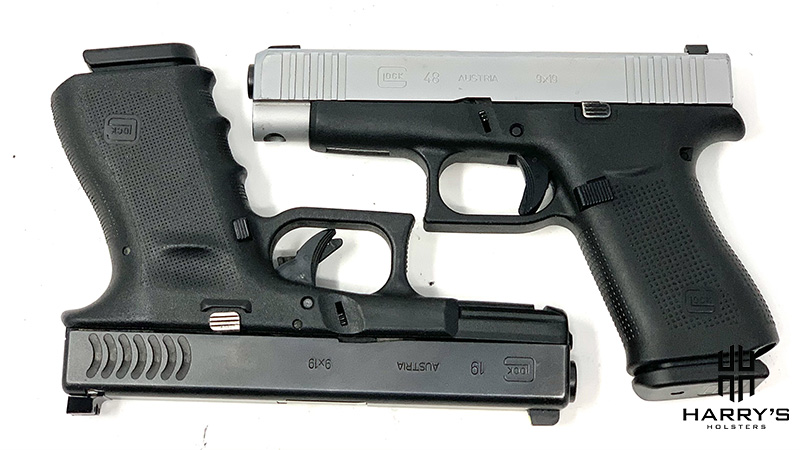 Glock 19 vs Glock 48 square