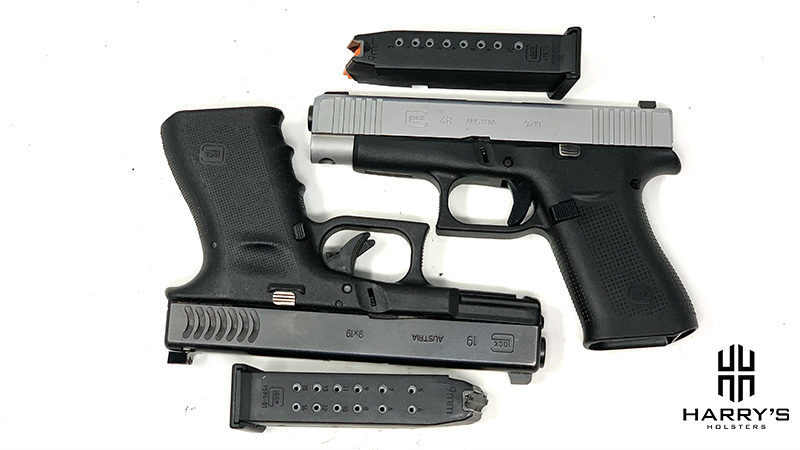 Glock 19 vs Glock 48 with magazines