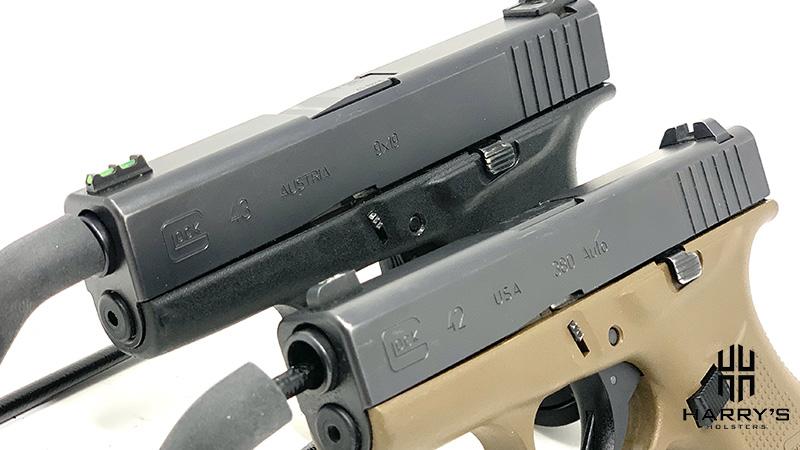Glock 42 vs Glock 43 side by side