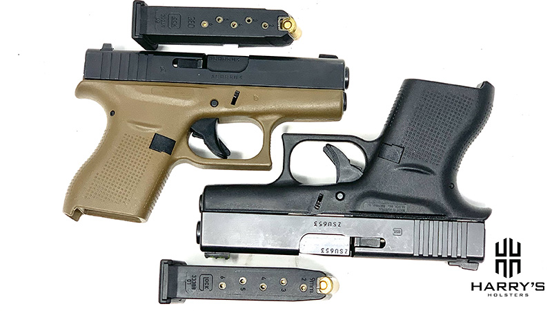 Glock 42 vs Glock 43 with magazines