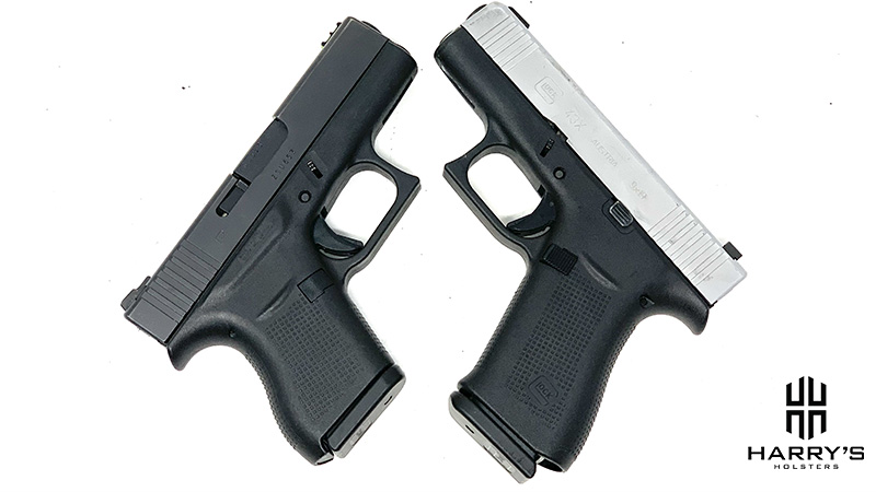Glock 43 vs Glock 43x X