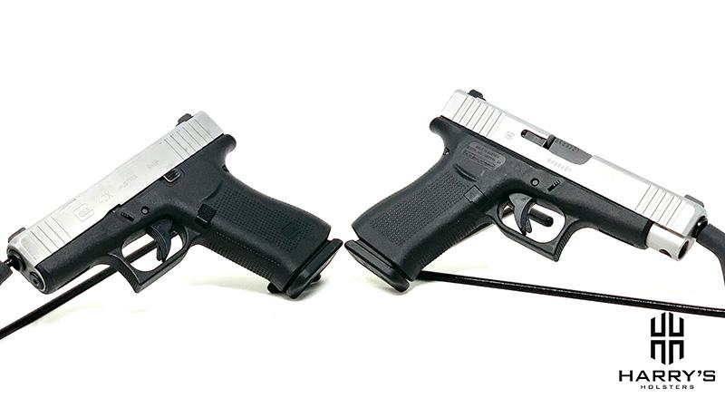 Glock 43x vs Glock 48 facing away