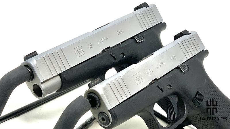 Glock 43x vs Glock 48 side by side