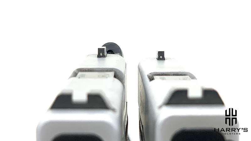 Glock 43x vs Glock 48 sights