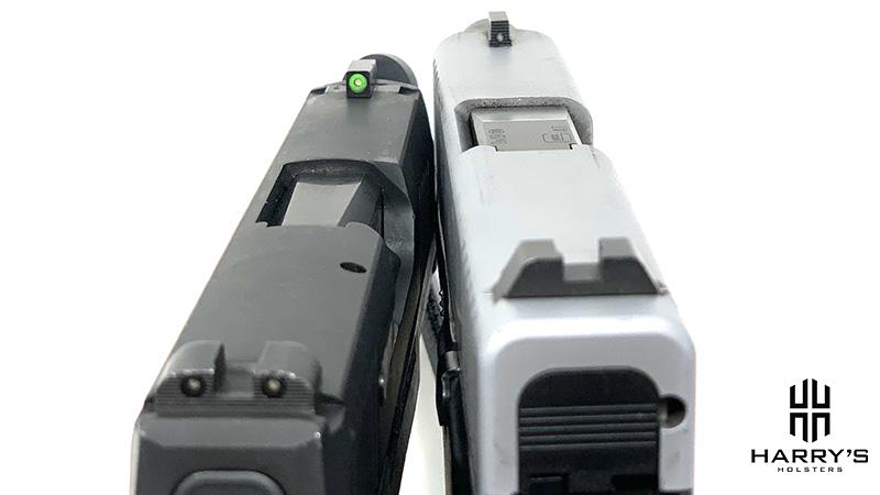 Glock 43x vs Sig P365 sights