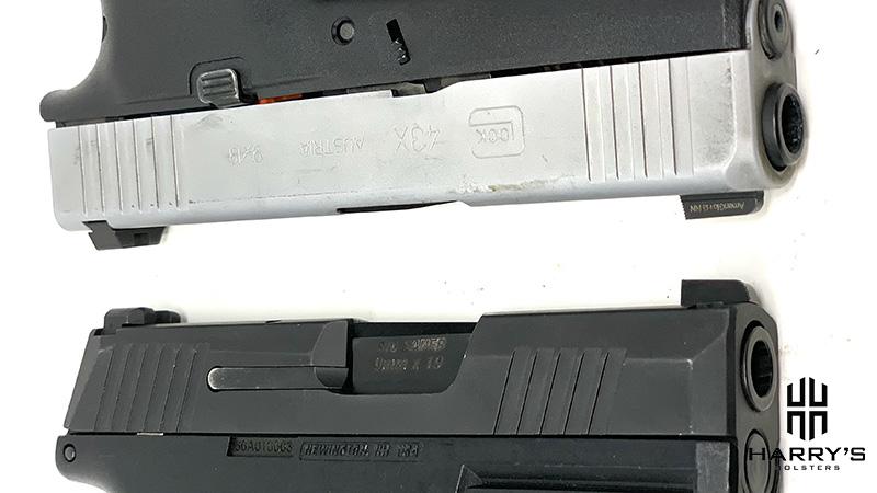 Glock 43x vs Sig P365 slides