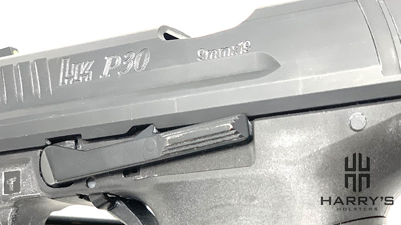 HK P30 Slide Stopped Locked Left