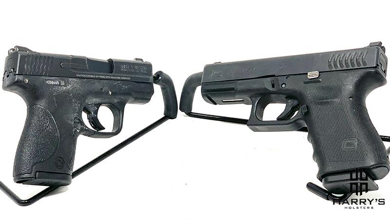 Glock 19 vs SW Shield facing