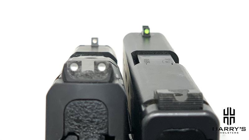 Glock 43 vs SW Shield sights