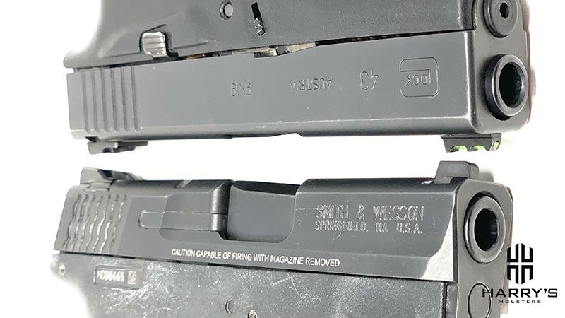 Glock 43 vs SW Shield slides