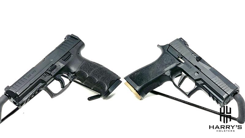 HK VP9 vs Sig P320 X Carry facing away