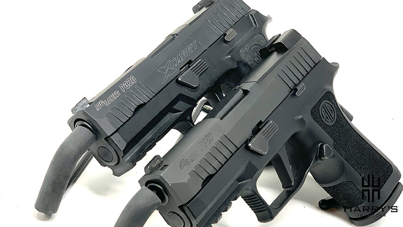 Sig P320 X Carry vs Sig P320 X Compact side by side