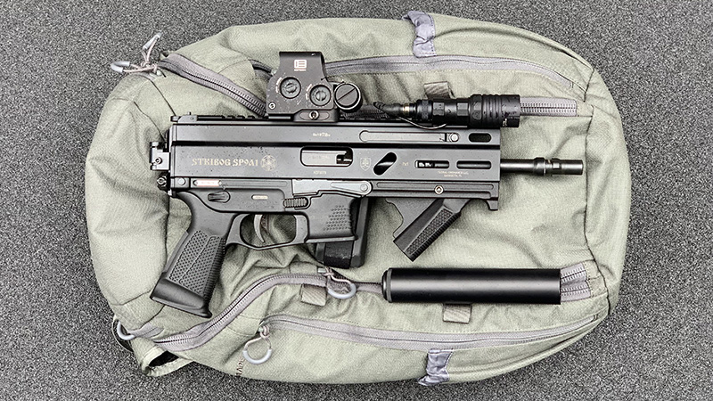 Stribog SP9A1 Suppressor with Backpack