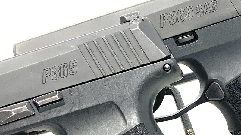 Sig P365 SAS vs P365 Slide Stops